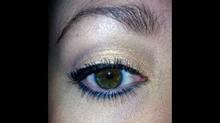 Golden Green Eye Shadow Look Thumbnail