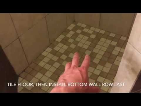 Shower Remodel (Video 10) - How to Tile shower walls, ceiling, and floor