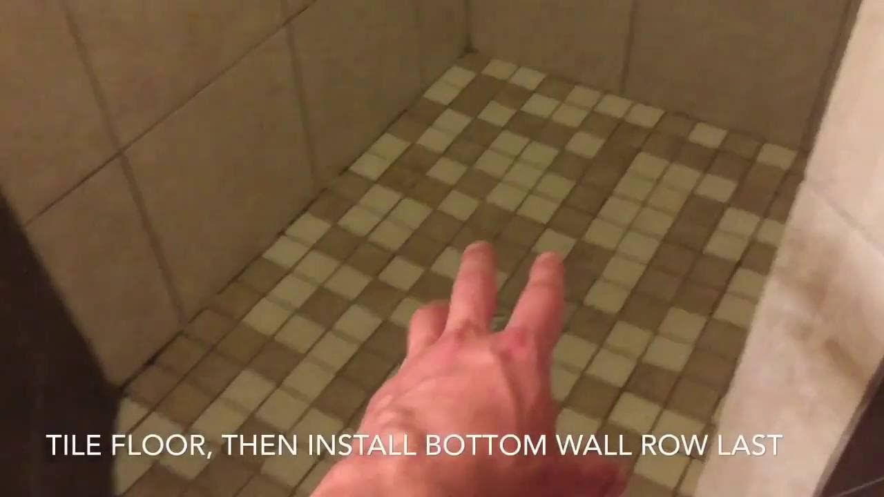 Shower remodel video 10 how to tile shower walls ceiling and shower remodel video 10 how to tile shower walls ceiling and floor dailygadgetfo Images