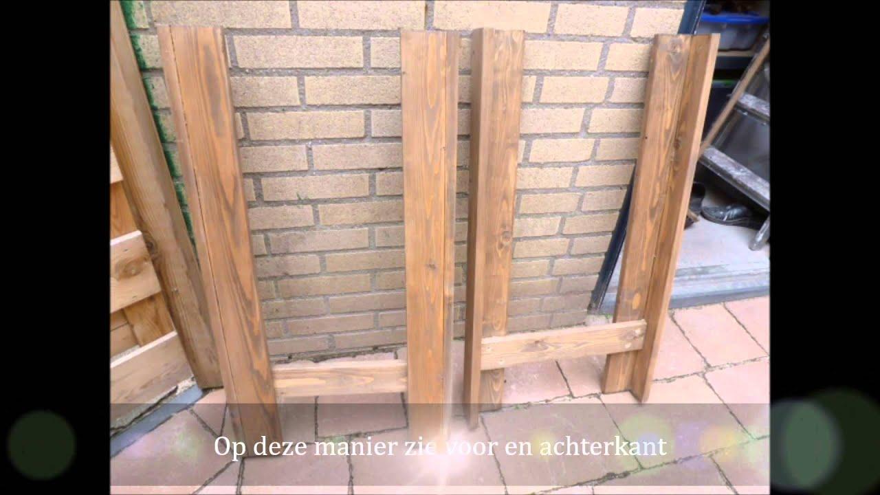 Sitetable muur tafel tafel zelf maken me recycle hout for Zelf meubels maken van hout
