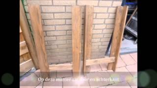 Sitetable muur tafel tafel zelf maken me recycle hout