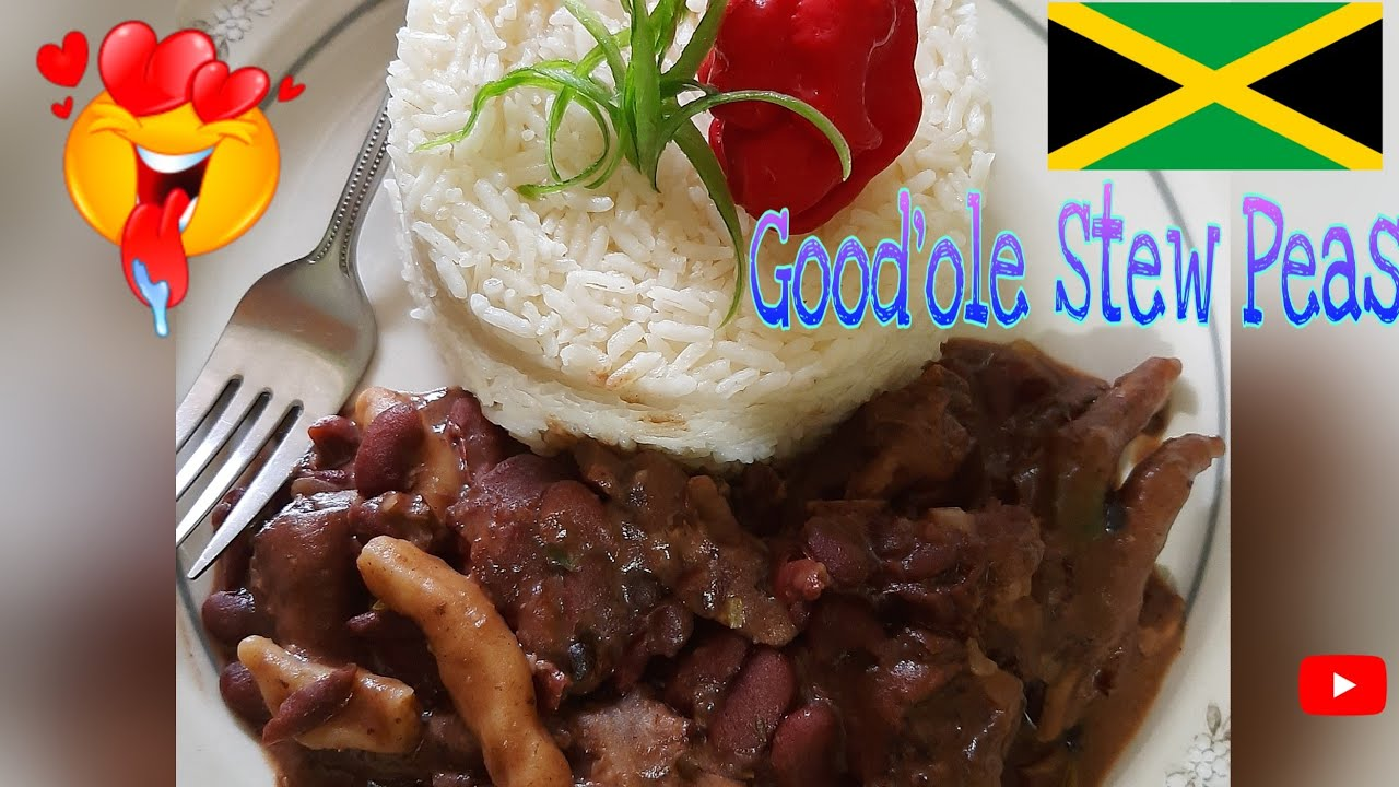 how to cook jamaican stew peas with pigtail  chicken foot