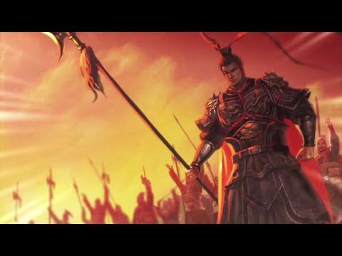 Romance of the Three Kingdoms XIII cutscenes - Guan Yu, Zhang Fei, Liu Bei vs Lu Bu at Hulao Gate