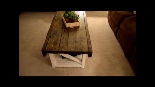 How to make a Coffee Table off Pintrest  - And End Tables - Living Room