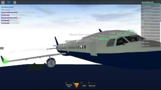 ROBLOX- Aqua Airways First class flight with Airbus A321.