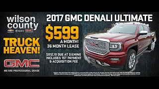 Lease a new 2017 GMC Sierra 1500 4x4 Denali 6.2L Ultimate Great Deal $599.00 Month