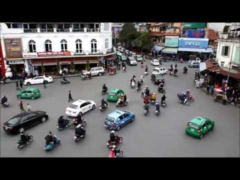 Traffic Flow in Hanoi Vietnam