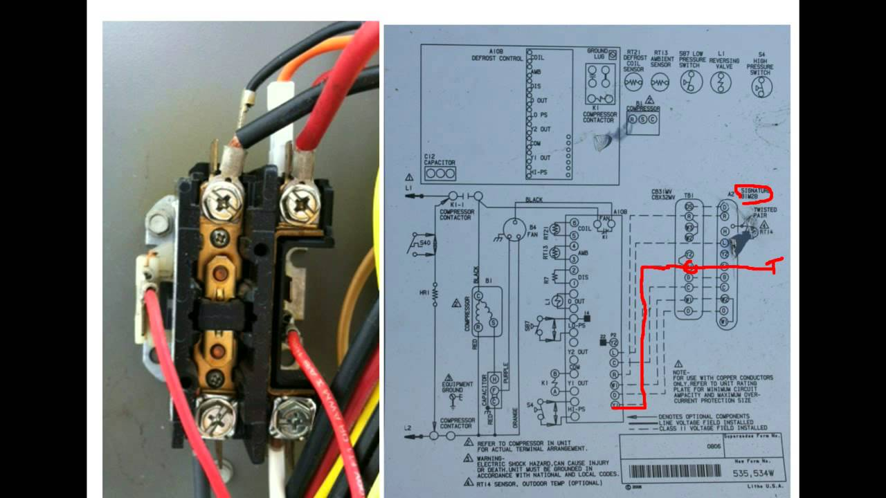 Hvac Training Understanding Schematics Contactors 2 Youtube Conditioner Air Conditioning Wiring Diagram