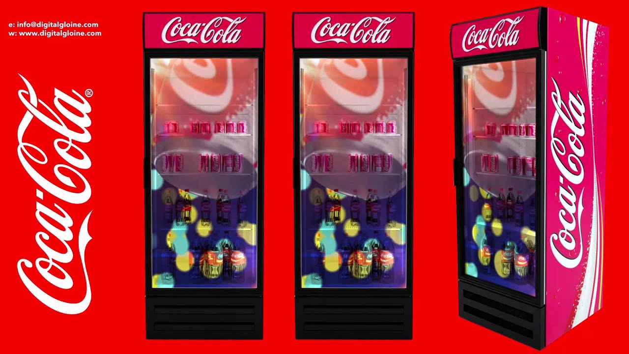 Dg Coke Refrigerator Door With Transpa Lcd Display