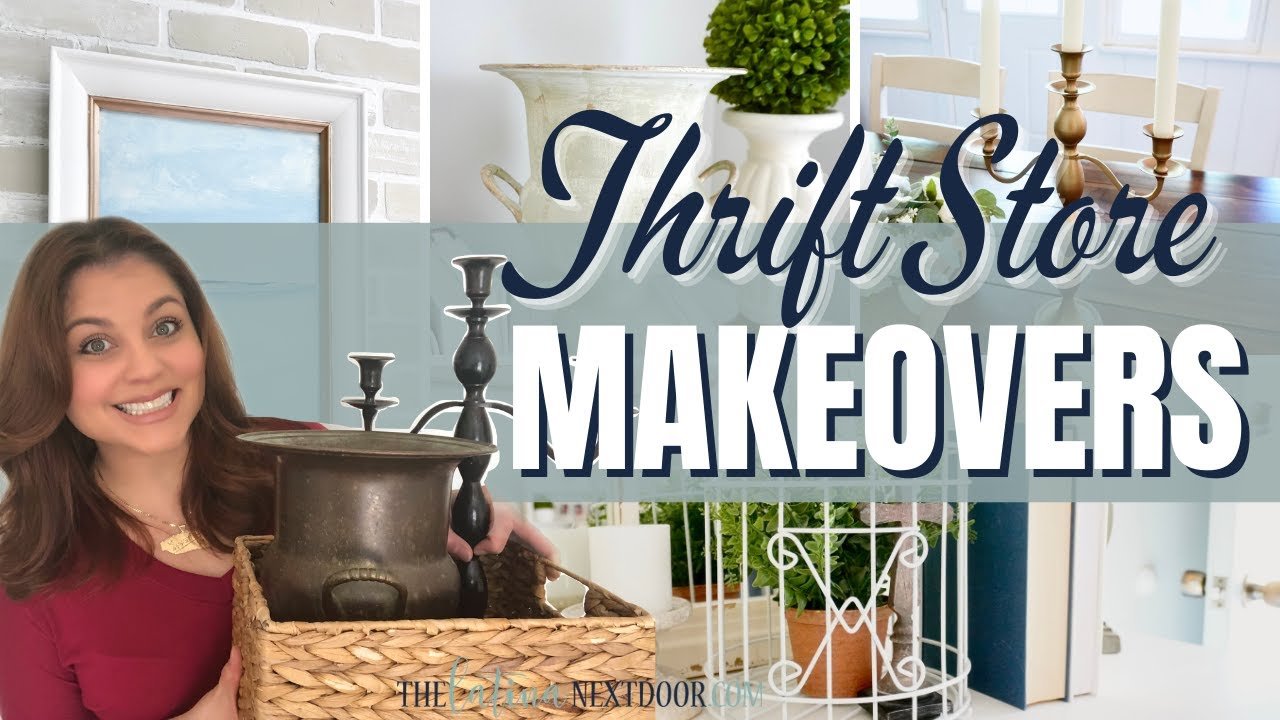 THRIFTED HOME DECOR DIYs | Look for Less Challenge INVITE