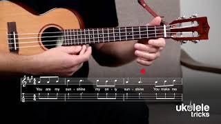 You Are My Sunshine on #Ukulele | Easy One-String Fingerpicking Play-Along