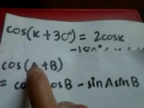 Solving Trig. Equations: Paper 32 May/June 2014 Question no. 3 CIE A ...