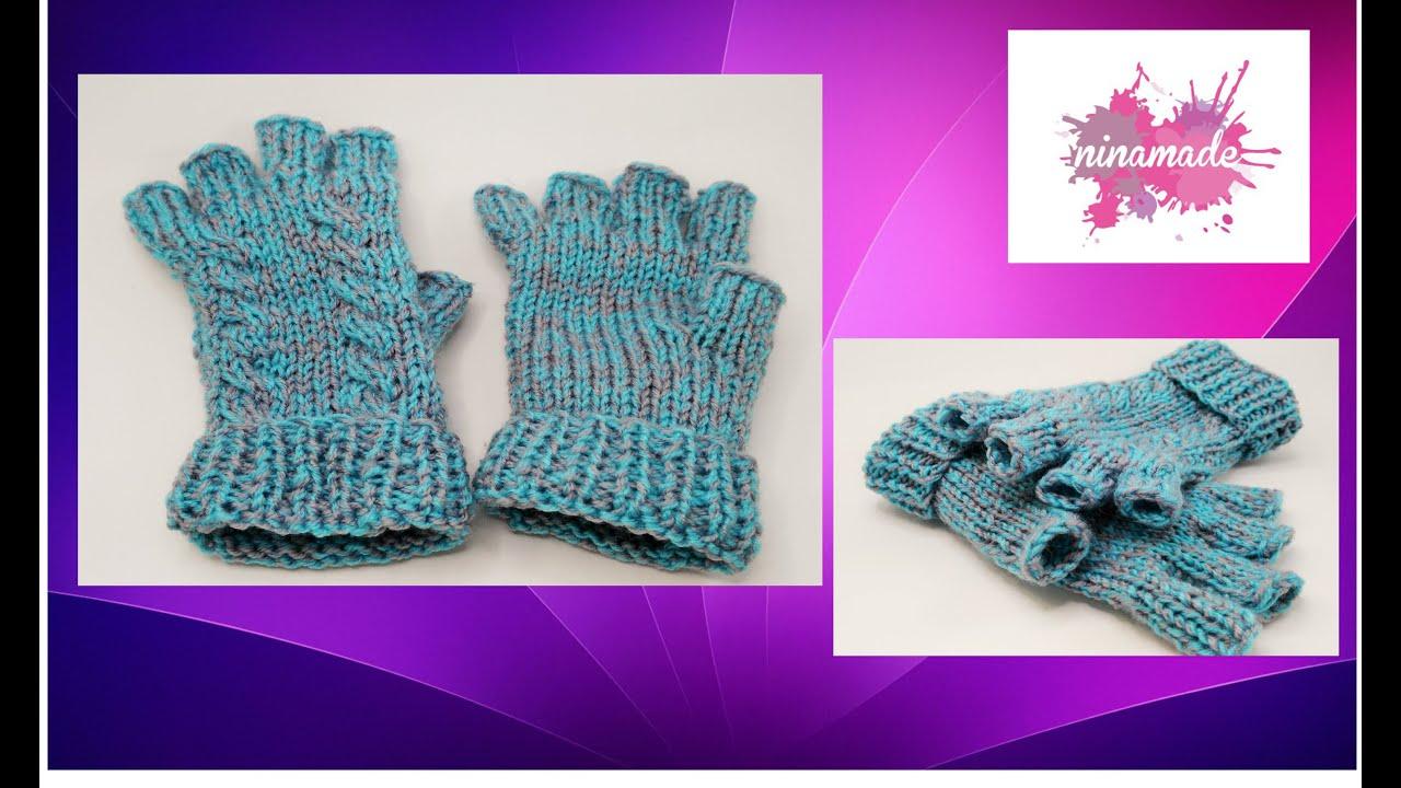 Diy comment faire des mitaines avec des doigts et deux - Comment tricoter des mitaines avec doigts ...