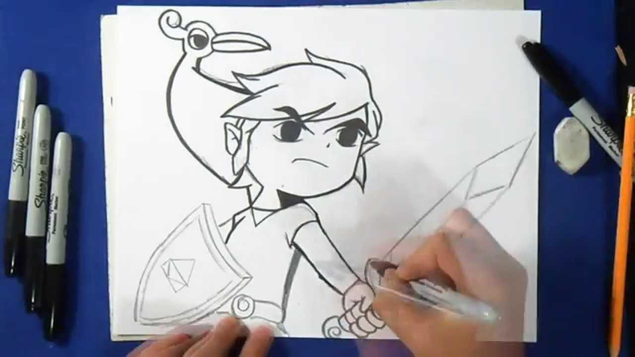 Cómo dibujar a Link - La Leyenda de Zelda - YouTube