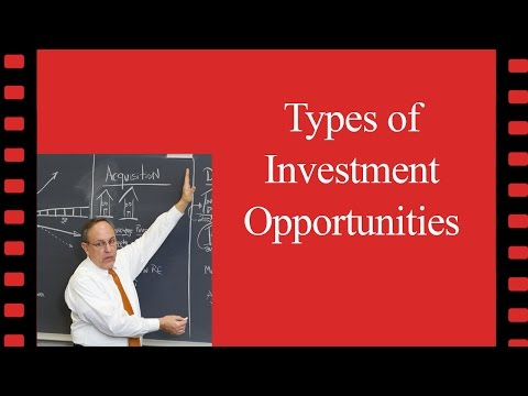 Types of Investment Opportunities