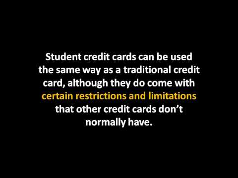 Student Credit Cards information