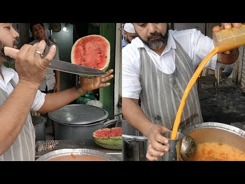 WATERMELON CUTTING NINJA | Crazy Juice Making Skills | Indian Street Food