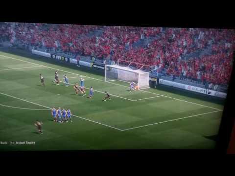 Outside foot freekick FIFA 17 ft jack wilshere