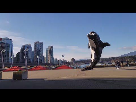 """Vancouver PUBLIC ART: """"DIGITAL ORCA"""" by Douglas Coupland, Vancouver Convention Centre, Coal Harbour"""