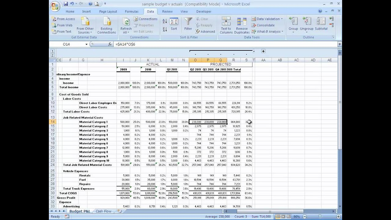 How to Build a Basic Financial Projection - Business Finance - YouTube