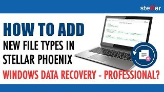 How to add new file types in Stellar Phoenix Windows Data Recovery-Professional?