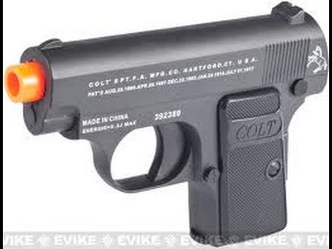 Colt 25 airsoft gun Unboxing/Review/Shooting test! - YouTube