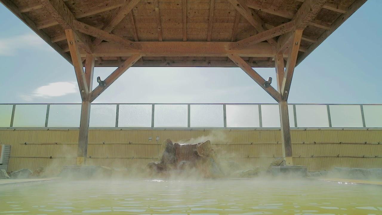 【 #北海道豊浦町 】朝の一番風呂 外出自粛中のあなたへ オンライン温泉【 #天然豊浦温泉しおさい 】