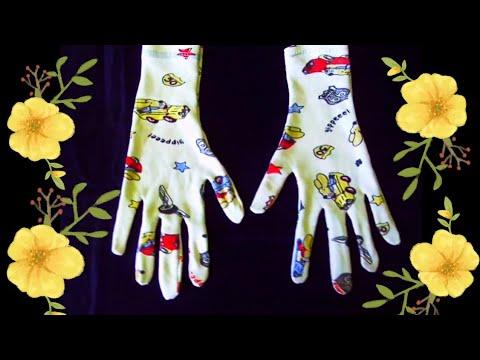 Переделка старой одежды / Хлопковые перчатки своими руками
