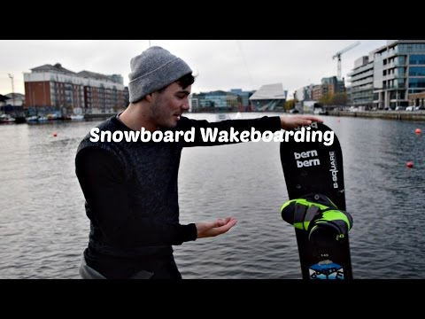 Wakeboarding on a Snowboard!?! What's possible?