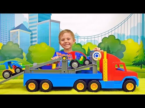 Машинка автовоз и Даник - Видео про машинки для детей