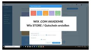 WIX.COM AKADEMIE / Wix Store Gutschein erstellen