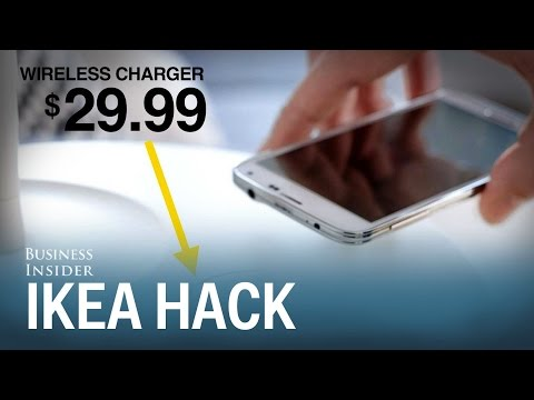 How to turn your IKEA furniture into a wireless phone charging station
