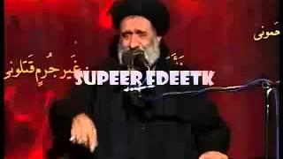 اكبر معممي الشيعه في ايران سكران على اكبر منابر حسينيات الشيعه ـ مسخره شيعيه