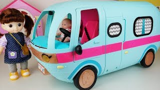 Baby Doll and Camping car picnic play story music - ToyMong TV 토이몽