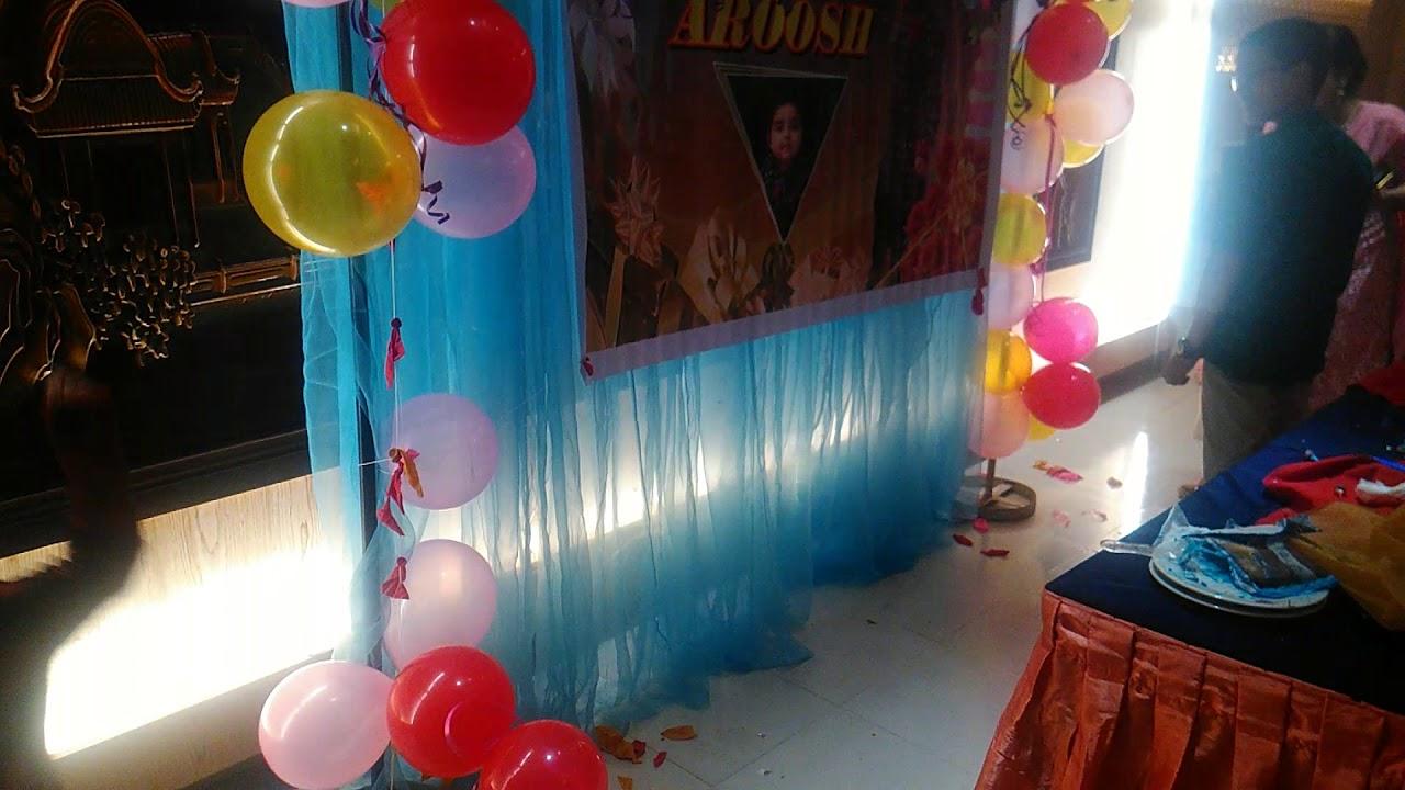 Aroosh balloon burst,,,