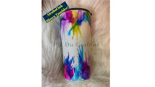Blown Alcohol Ink Tumbler