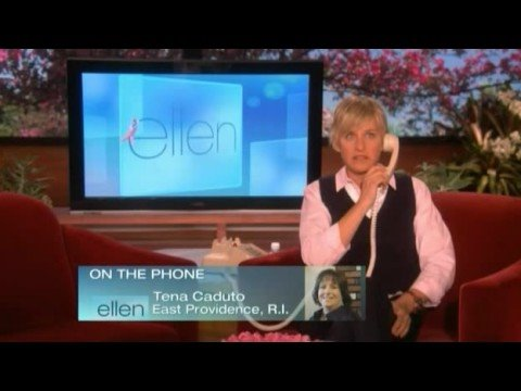Ellen wake-up calls one home viewer 10/16/08