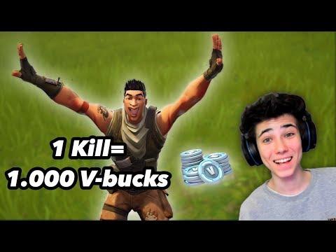 11 jähriger bekommt pro Kill 1.000 V-bucks