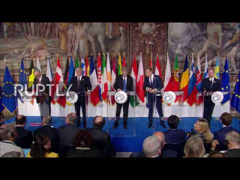 Italy: 60 years on, EU leaders renew faith in Rome Treaty