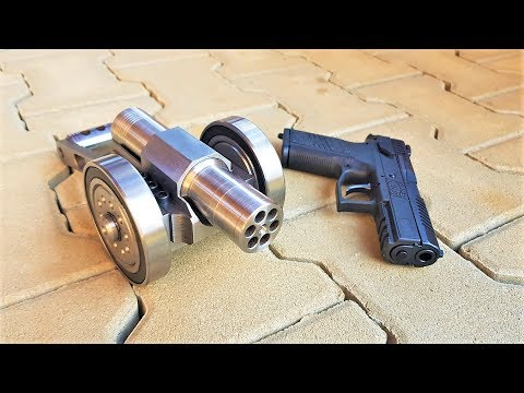SIX Shots vs SIX Shots Powerful mini Cannon 9mm vs Gun 9mm ( cz p07 )