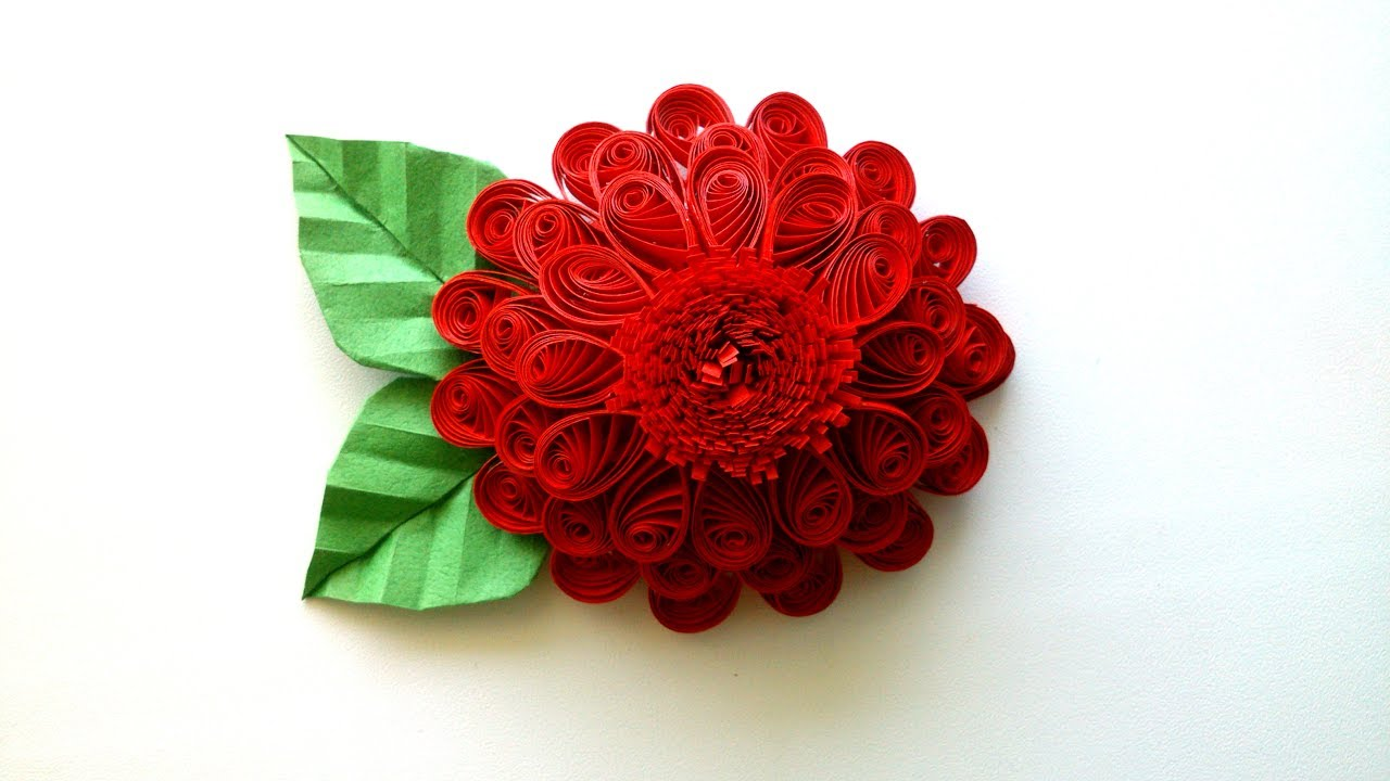 How To Make A 3d Quilling Flower Creative Paper Youtube