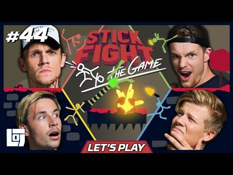STICK FIGHT met Milan, Enzo, Link en Harm | Lets Play | LOGS2 #44