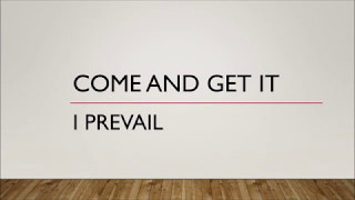 I Prevail - Come & Get It (Lyrics)