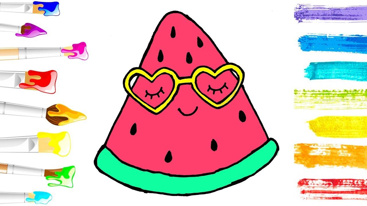 Awesome Kawaii Watermelon Coloring Pages Anyoneforanyateam
