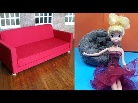 DIY Dollhouse Miniature Modern Sofa Tutorial - (doll craft)
