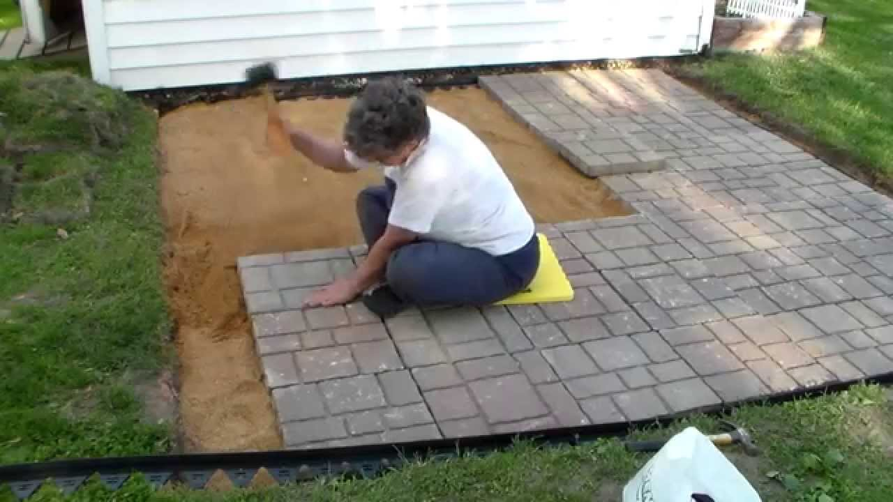 building a paver patio and firepit youtube. Black Bedroom Furniture Sets. Home Design Ideas