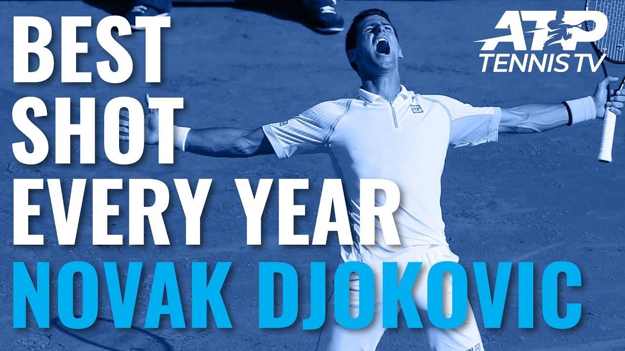 Novak Djokovic: Best ATP Shot Every Year