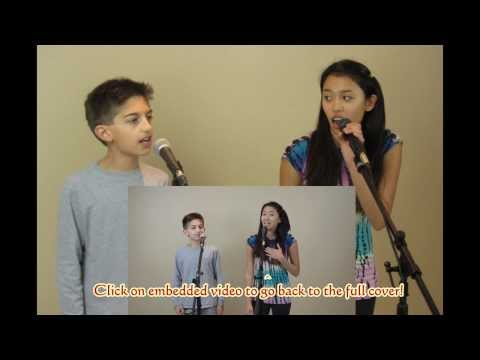 Luka and Isabella Singing Everything Has Changed - Bloopers!