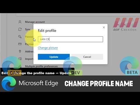 How to Change Profile Name on Chromium Version of Microsoft Edge