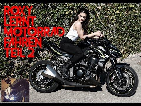 Roxys erste Fahrversuche   Motorrad fahren lernen für Anfänger Teil 2 - Z1000 MotoVlog #45 [Deutsch]